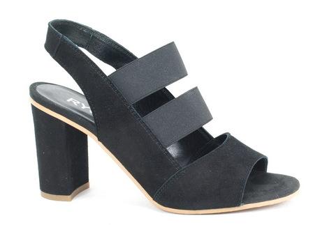 Sandałki damskie na słupku Ryłko 9HFI8 czarne