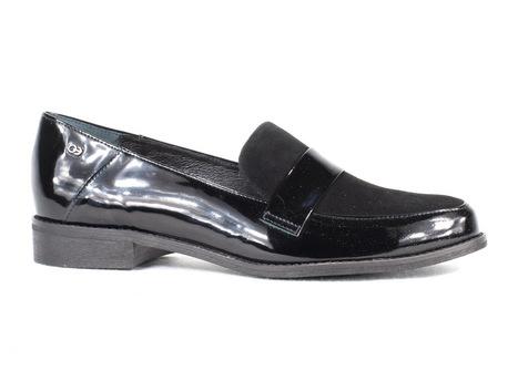 Mokasyny / Loafery Edeo 3561- 395/16 czarne (1)