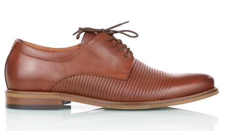 Brązowe skórzane męskie półbuty wizytowe TUR 484/100/F9, brązowe buty do garnituru (1)