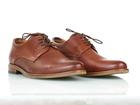 Brązowe skórzane męskie półbuty wizytowe TUR 484/100/F9, brązowe buty do garnituru (2)