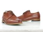 Brązowe skórzane męskie półbuty wizytowe TUR 484/100/F9, brązowe buty do garnituru (3)