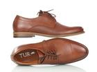 Brązowe skórzane męskie półbuty wizytowe TUR 484/100/F9, brązowe buty do garnituru (4)