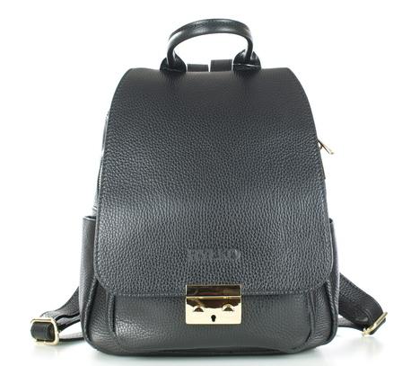 Czarny plecak damski skórzany RYŁKO R40429TB_UV6 (1)