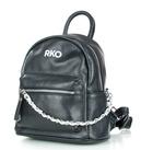 Czarny mały plecak damski skórzany RYŁKO R40446TB_UV6 (1)