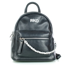 Czarny mały plecak damski skórzany RYŁKO R40446TB_UV6 (2)