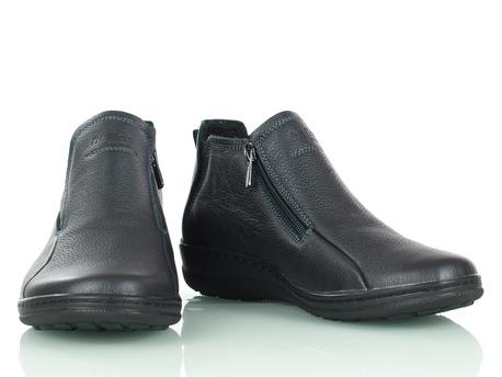 Czarne ocieplone botki na suwak damskie HELIOS 566/0111 (1)
